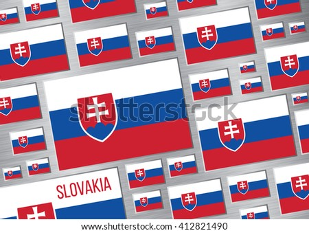 Flag of Slovakia. Vector background
