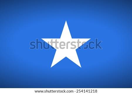 Flag of Somalia. Vector illustration. - stock vector