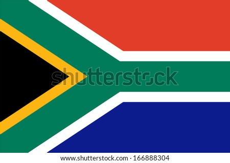 Flag of South Africa. Vector. Accurate dimensions, element proportions and colors. - stock vector