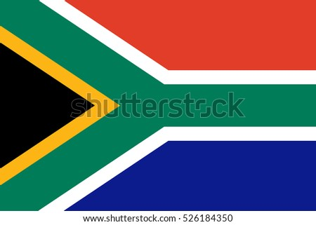 Flag of South Africa vector illustration