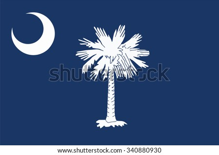Flag of South Carolina state of the United States. Vector illustration. - stock vector