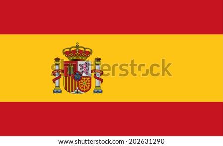 Flag of Spain - stock vector