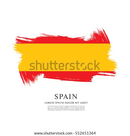 Flag of Spain, brush stroke background