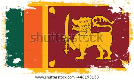 Flag of Sri Lanka in the ancient.