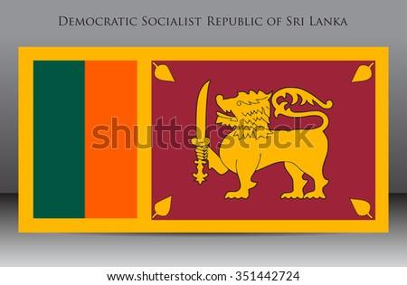 Flag of Sri Lanka.Sri Lanka flag vector illustration. - stock vector