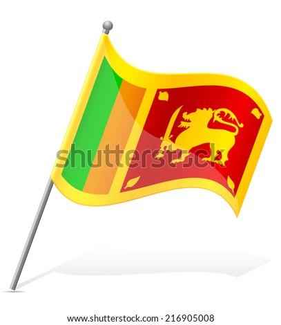 flag of Sri Lanka vector illustration isolated on white background - stock vector