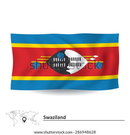 Flag of Swaziland - vector illustration - stock vector
