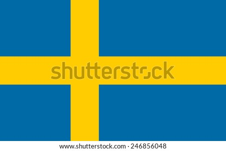 Flag of Sweden - stock vector