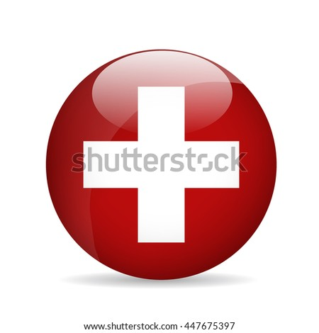 Flag of Switzerland. Vector illustration