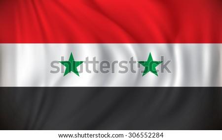 Flag of Syria - vector illustration - stock vector