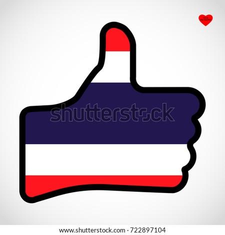 Flag Costa Rica Shape Hand Thumb Stock Illustration 723687493