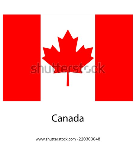Flag  of the country  canada. Vector illustration.  Exact colors.  - stock vector