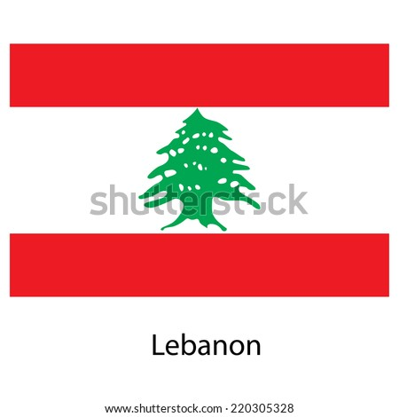 Flag  of the country  lebanon. Vector illustration.  Exact colors.  - stock vector