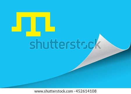 Flag of the Crimean Tatar people, vector illustration. - stock vector
