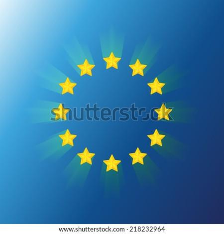 Flag of the European union - stock vector
