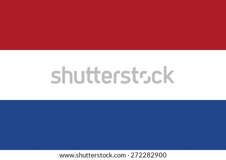 Flag of the Netherlands. Official state dutch symbol. Three horizontal stripes - red, white and blue. Correct colors, forms and proportions. Vector illustration for political articles.  - stock vector