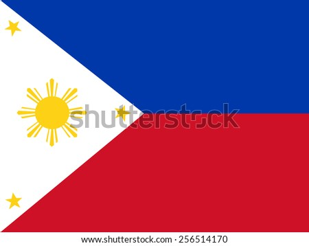 Flag of the Philippines - stock vector
