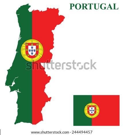 Portuguese Flag Stock Images RoyaltyFree Images Vectors - Portugal map flag
