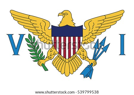 Flag of the U.S. Virgin Islands, USA. Vector Format