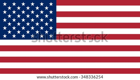 Flag of the United States in correct proportions and colors - stock vector