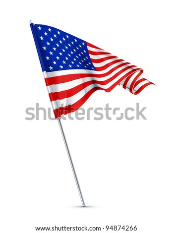Flag of the United States, vector - stock vector