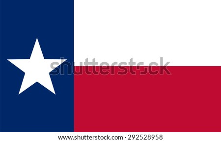 flag of the US state of Texas - stock vector