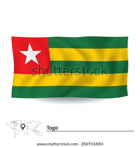 Flag of Togo - vector illustration