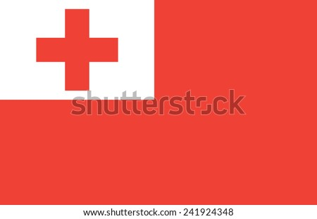 flag of Tonga - stock vector