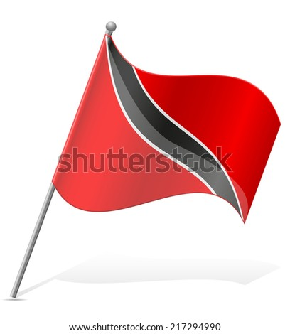 flag of Trinidad and Tobago vector illustration isolated on white background - stock vector