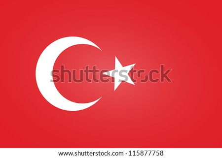 Flag of Turkey - stock vector