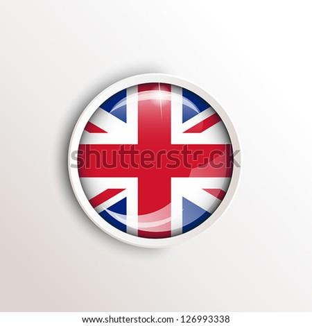 flag of uk. flag concept - stock vector