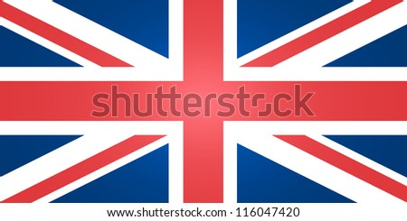 Flag of United Kingdom - stock vector