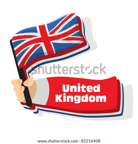 Flag of united kingdom icon, vector flags of europe series.