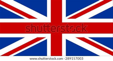 Flag of United Kingdom with original red and blue colors and high resolution jpeg. Illustration vector.