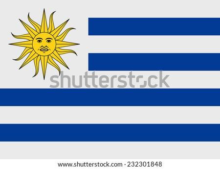 Flag of Uruguay vector illustration - stock vector
