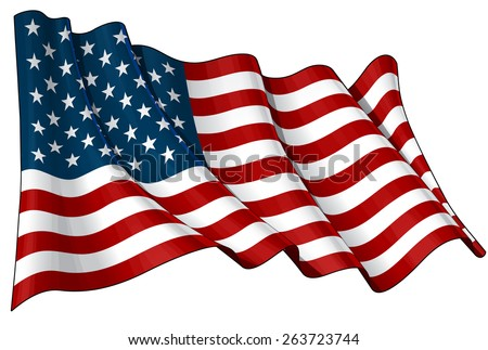 Flag of USA - stock vector