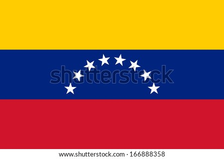 Flag of Venezuela. Civil variant. Vector. Accurate dimensions, element proportions and colors. - stock vector