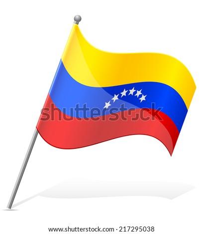 flag of Venezuela vector illustration isolated on white background - stock vector