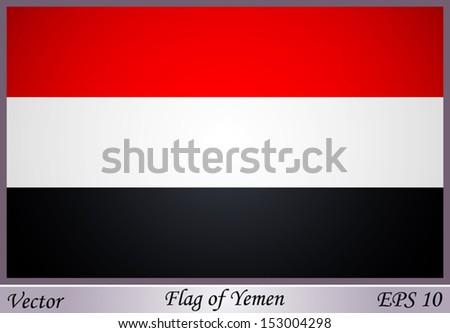 Flag of Yemen - stock vector