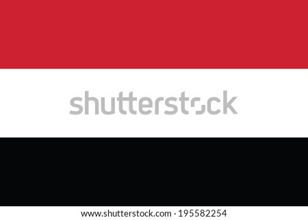 Flag of Yemen. Vector. Accurate dimensions, elements proportions and colors. - stock vector