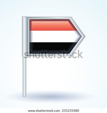 Flag of Yemen, vector illustration - stock vector