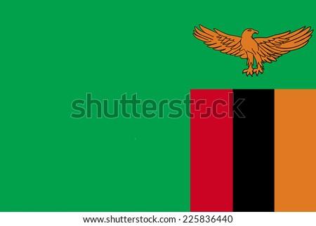 Flag of Zambia - stock vector