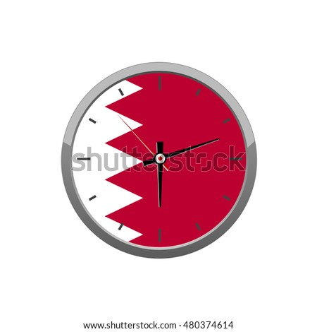 flag on wall clock