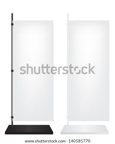 Flag stand banner - stock vector