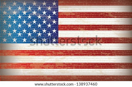 flag  the united states vintage vector illustration