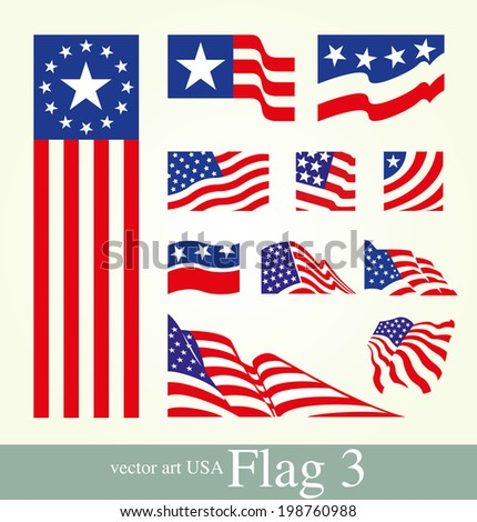 flag. usa flag on the background. - stock vector