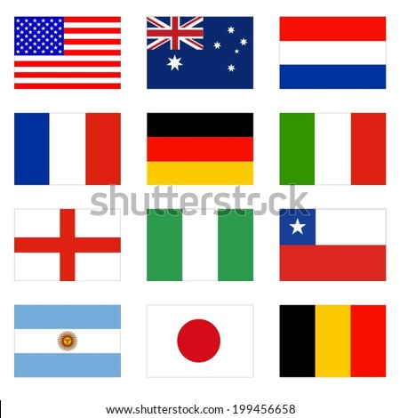 Flag World Original Vector - stock vector