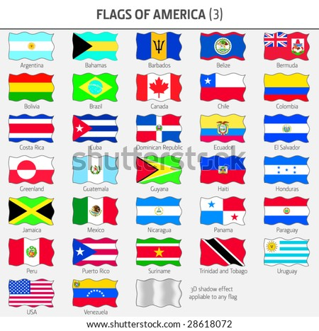 Flags of all American Countries 3