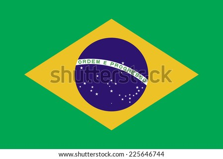 Flags of brazil - stock vector