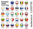 Flags of countries - members of European Union - stock vector